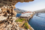 Beautiful view at Chora, the capital of Andros island, Cyclades, Greece - 115392152