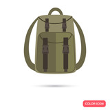 Hunter backpack color flat icon