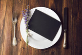 Rustic place setting with empty menu