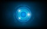 abstract sound wave digital radius design technology innovation concept background