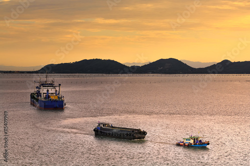 Papiers peints Nautique motorise Boat transportation in Songkhla lake,Thailand