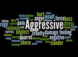 Aggressive, word cloud concept 6