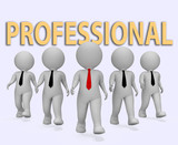 Professional Businessmen Indicates Expert Businessman And Specia