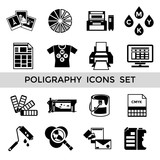 CMYK Black Icon Set