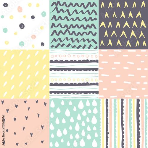 Set of seamless patterns - 115467976