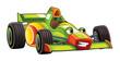 Cartoon sports car racing - illustration for the children