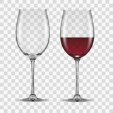 big reds wine glass empty and none - 115508184