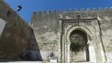 Tangeri, Marocco - Aprile 22, 2016: Città di Tangeri Marocco, vista delle vie e della città vecchia. Fortezza, Porta d