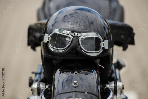 obraz lub plakat Motorradhelm