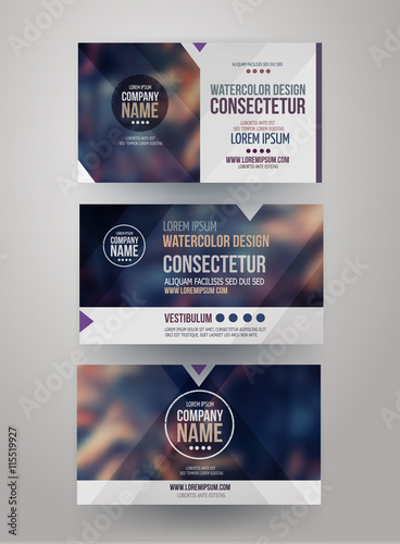 In de dag identity templates with blurred abstract background