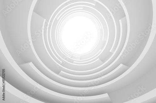 White Circular Building