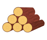 wood trunk isolated icon design