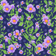 Seamless floral pattern background, flowers ornament wallpaper