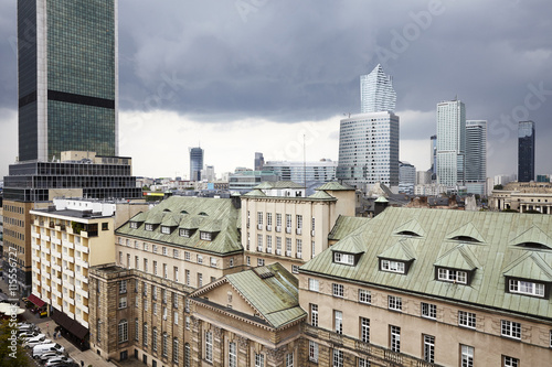 View on old and new Warsaw - 115556727