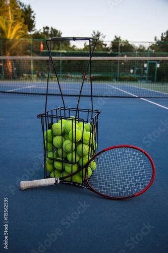 Teaching tennis Tableau sur Toile