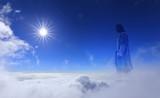 Jesus Christ in Heaven religion concept - 115587104