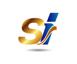 letter S and i logo