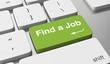 Find a job text written on keyboard button