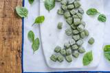 green spinach italian gnocchi