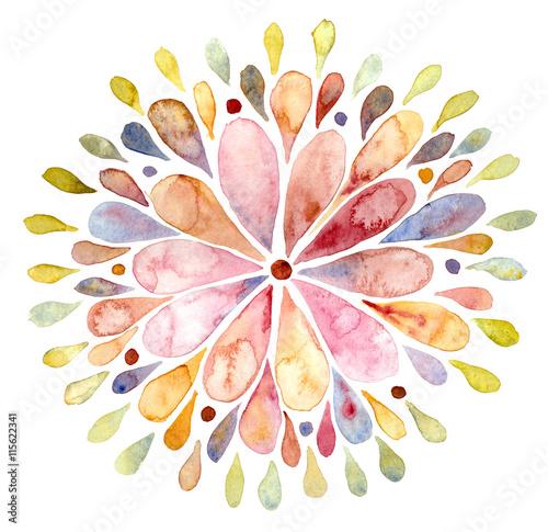 streszczenie-kolorowe-slonce-akwarela