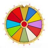 Wheel of fortune. 3D illustration - 115627998