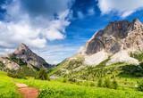 Dolomites peaks near Falzarego - Italy