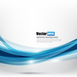 Abstract background Ligth blue curve and wave element vector ill
