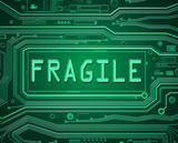 Fragile technology concept.