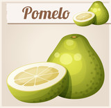 Pomelo fruit. Cartoon vector icon