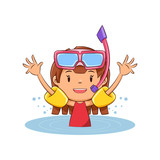 Girl swim