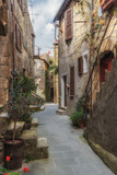 Fototapety Abandoned nooks miraculously beautiful town in Tuscany.