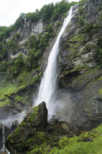 Waterfall of Foroglio in Val Bavona, Switzerland