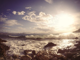 stone coast in Greece