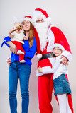 Christmas. Santa Claus. Happy family.