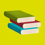 books isolated icon design, vector illustration  graphic
