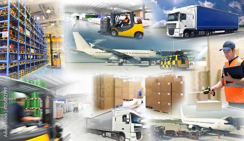 Logistik - Warentransport und Lagerung // shipping and logistics