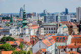 Top view on buildings in old town of Bratislava city. Slovakia.