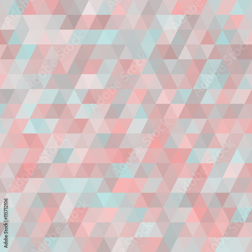 Fototapeta Geometric background with triangles. Random colors