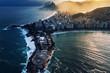 Quadro Rio de Janeiro aerial view. Copacabana Fortalezza and Ipanema