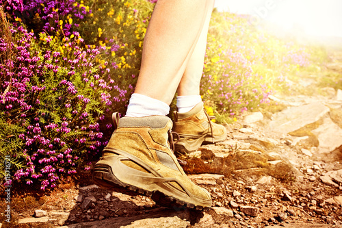 Walking on a Rocky Trail Poster