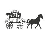 Wedding Carriage  Icon Design Wall Sticker