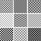 Fototapety Seamless patterns set with fish scale motif.