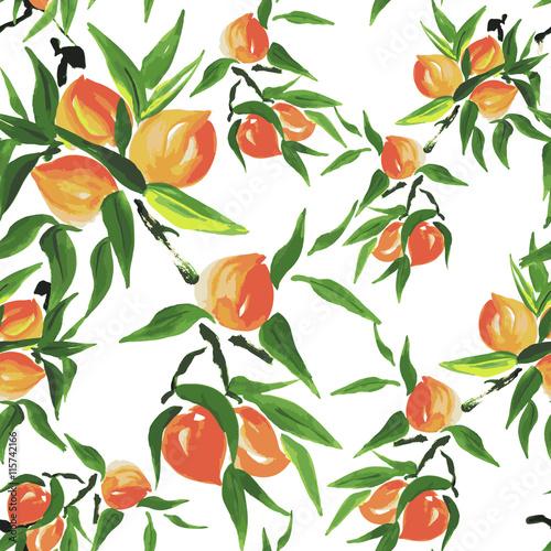 Fototapeta peach seamless pattern