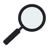 flat design magnifying glass icon vector illustration