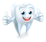 Fototapety Tooth Dental Mascot Giving Thumbs Up