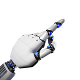 3D Rendering futuristic robot hand