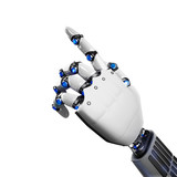 3D Rendering futuristic robot hand
