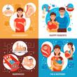 Parents Concept Icons Set