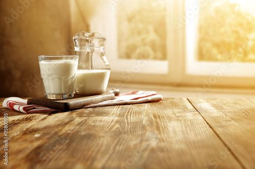 Fototapeta milk and window