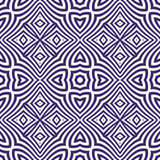 Seamless pattern with symmetric geometric ornament. Navy color abstract background.